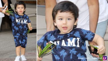 Taimur Ali Khan's New Adorable Pictures in Cool Blue Outfit Will Instantly Give You Summer Vibes!