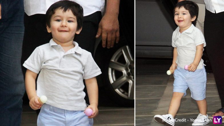 Taimur Ali Khan Can't Contain His Happiness As He Rushes To See What's In The Bag! (See Cute Pics and Videos)