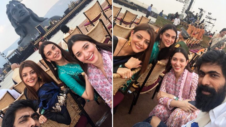 Rana Daggubati Clicks a Group Selfie With Beauties Tamannaah, Kajal Aggarwal and Aditi Rao Hydari!