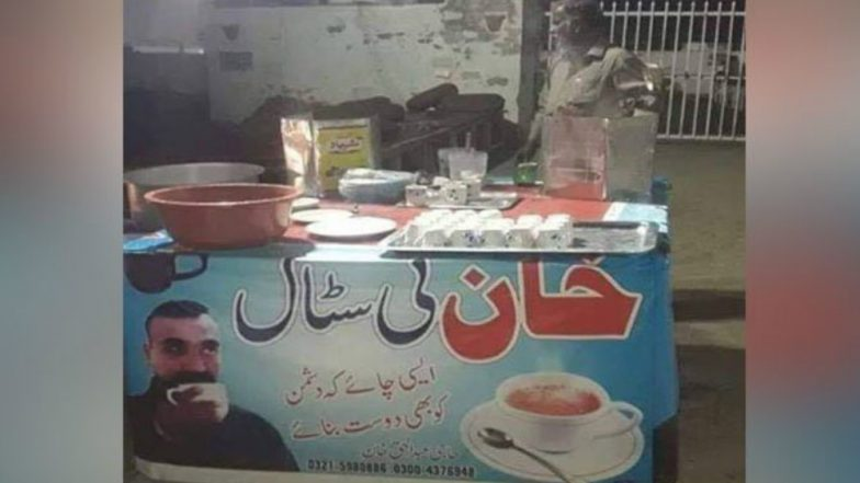 Tea Stall in Pakistan Depicts Wing Commander Abhinandan Varthaman as Harbinger of Friendship