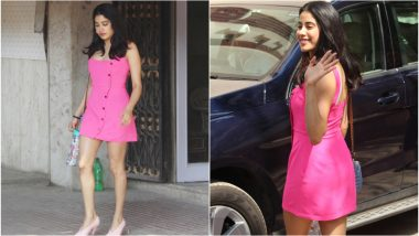 Janhvi Kapoor Dolls Up Post Gym In a 'Pretty In Pink' Avatar for Sunita Kapoor's Party -  View Pics!