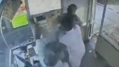 Telangana: Toll Plaza Employee Gets Thrashed With a Slipper Over Extra Charges, Video Goes Viral