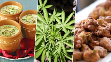 Holi Recipes 2019: Make Bhang Pakora and Bhang Thandai at Home With These Simple Steps (Watch Videos)