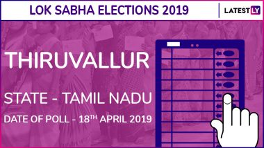 Thiruvallur Lok Sabha Constituency Election Results 2019 in Tamil Nadu: Dr K Jayakumar of Congress Wins This Parliamentary Seat