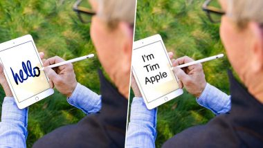 Tim Cook Writing 'Hello' on His Apple iPad Using a stylus Becomes a Funny Meme on Twitter