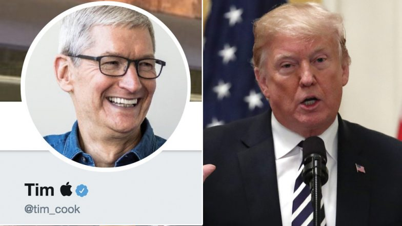 Trump calls Apple CEO Time Cook - 'Tim Apple'