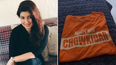 Twinkle Khanna Deletes Her Tweet of the 'Main Bhi Chowkidar' Tee, Looks Like 'Orange' Doesn't Keep Trolls at Bay as Advised by Her