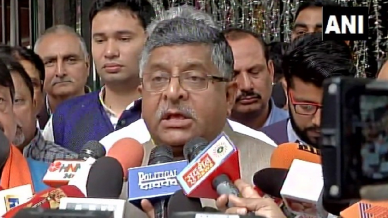 Aadhaar in National Interest, Does Not Violate Privacy, Says Union Law Minister Ravi Shankar Prasad