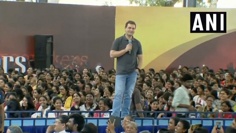 Lok Sabha Elections 2019: Rahul Gandhi's College Event in Chennai Raises Questions Over Model Code of Conduct