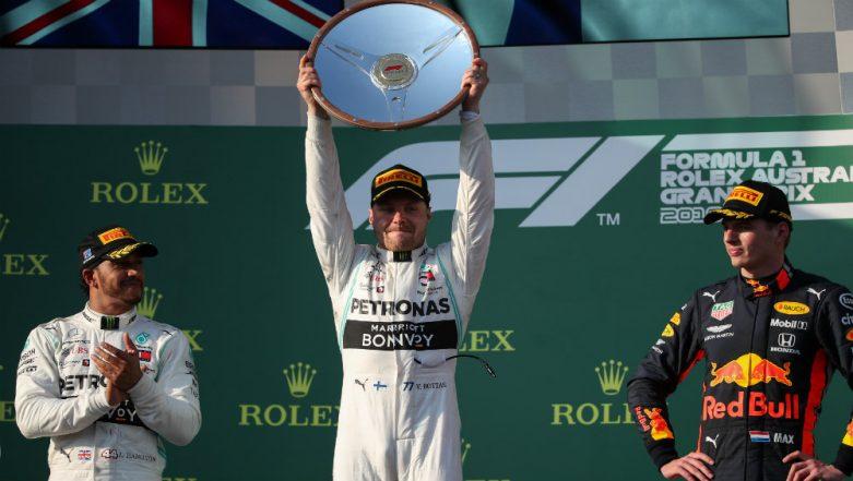 F1 Driver Valtteri Bottas Wins Australia Grand Prix for Mercedes