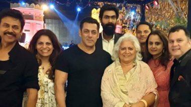 Salman Khan Attends South Star Venkatesh's Daughter, Aashritha's Wedding in Jaipur - View Pics