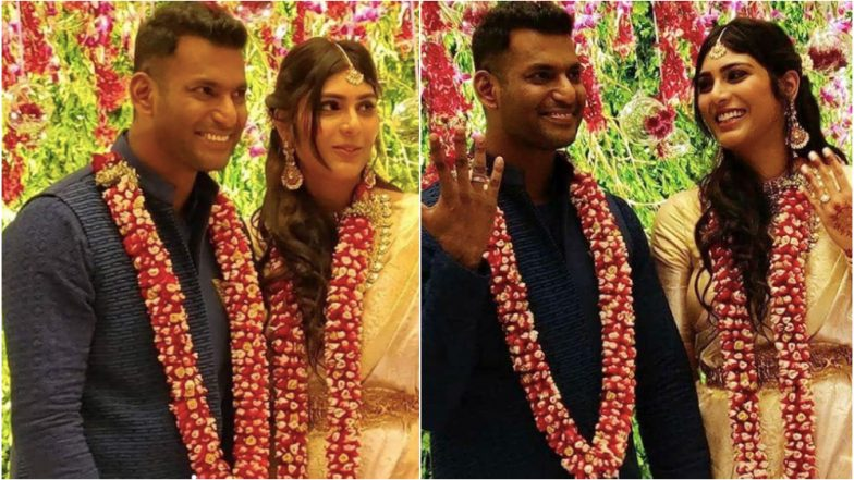 Actors Vishal and Anisha Alla Reddy Get Engaged in a Private Ceremony in Hyderabad - See Pics!