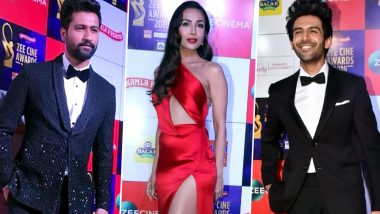 Zee Cine Awards 2019: Vicky Kaushal, Malaika Arora, Kartik Aaryan and Other Celebs Make Glamorous Appearances on the Red Carpet (View Pics)