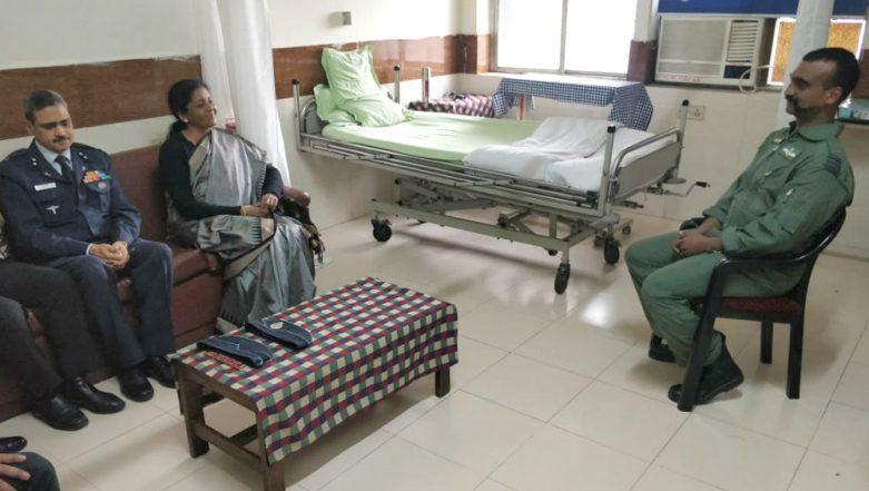 Wing Commander Abhinandan Varthaman Visited by Defence Minister Nirmala Sitharaman in Delhi Hospital; See Pic