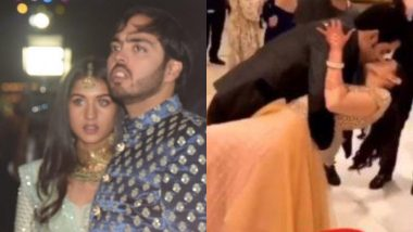 Radhika Merchant's Reaction on Being Asked to Kiss Anant Ambani Steals the Spotlight from Akash Ambani-Shloka Mehta's Liplock - Watch Video