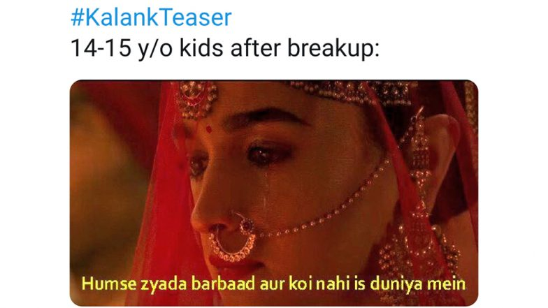 Kalank Teaser These Memes on Alia Bhatt and Varun Dhawan's Poetic Dialogues Are Barrel of Laughs