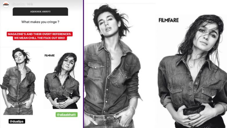 Alia Bhatt Gives It Back to Diet Sabya For Accusing Her of Taking 'Reference' From Dua Lipa For Filmfare Shoot-View Pics