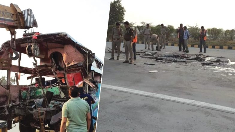 Greater Noida Road Accident: Bus Rams Into Truck on Yamuna Expressway, Eight Dead