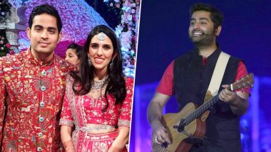After Maroon 5's Adam Levine, Arijit Singh Creates a Magical Evening at Akash Ambani – Shloka Mehta's Wedding Reception (Watch Video)