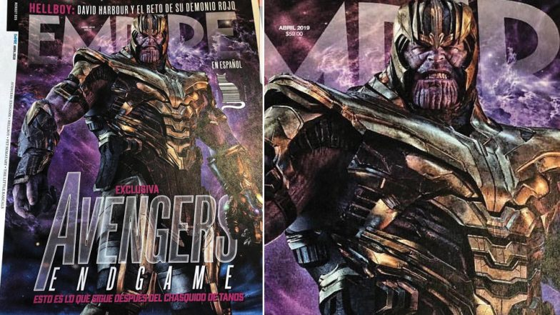 Avengers: Endgame: Thanos' New Look From The Film on a Leaked Magazine Cover Shows Him Armoured along With The Infinity Gauntlet - View Pic!