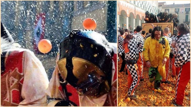 Battle of the Oranges 2019 in Northern Italy: Ivrea Gets Juiced During Its Annual Festival (Watch Video)