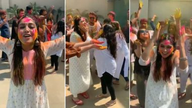 Happy Holi 2019: For Bhumi Pednekar, Playing Holi Without Inhibitions Is the Best Way to Play and We Couldn't Agree More! (Watch Video)