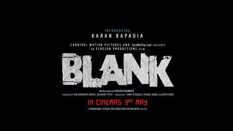 Dimple Kapadia's Nephew Karan Kapadia to Make His Debut with Sunny Deol in Blank - See Movie Poster