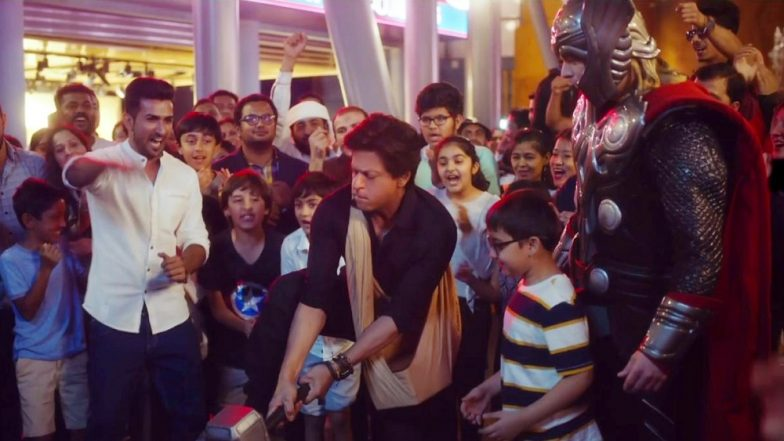 Shah Rukh Khan Joins Captain America, Iron Man, Thor for Promotional Campaign in Dubai, Watch Video