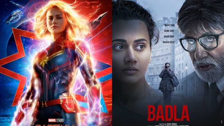 Box Office Report: Captain Marvel Witnesses 45% Occupancy Whereas Badla Off to a Slow Start