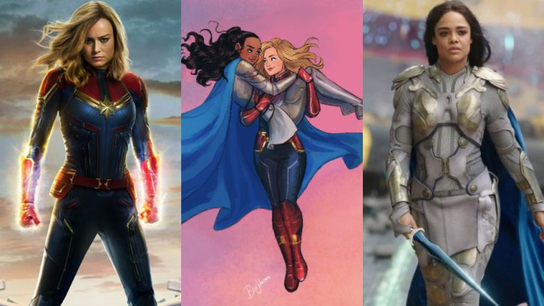 Brie Larson Posts Homo-Romantic Sketch with Tessa Thompson's Valkyrie; Fuels Gay Captain Marvel Rumours