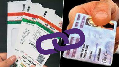 PAN Card-Aadhaar Linking December 31 Deadline Nears; Here's How to Link Your Aadhaar With PAN Online (Watch Video)