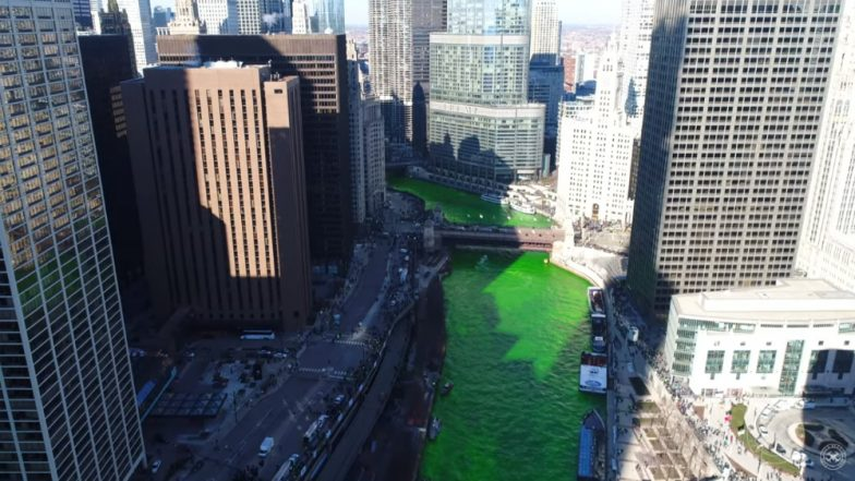 St. Patrick's Day Parade 2019: Chicago River Dyed Green & It Looks Stunning (Watch Videos)