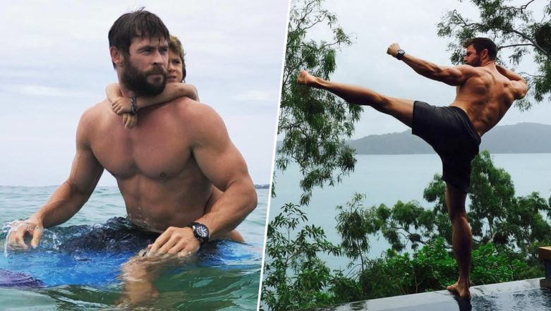 How to Get a Fit Body Like Thor? Here's a Sneak Peek Into Chris Hemsworth's Workout Regime (Watch Videos)