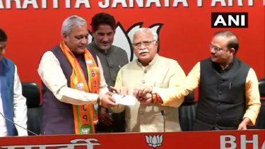 Lok Sabha Elections 2019: INLD MLA Ranbir Gangwa Joins Haryana BJP