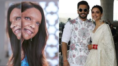 Chhapaak First Look! Ranveer Singh Cheers for Wife Deepika Padukone, Says 'Proud of You Baby' – See Pic