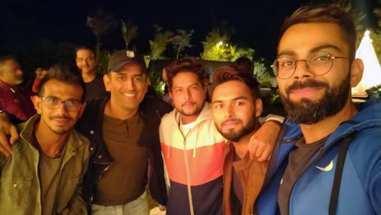 MS Dhoni Hosts Team India for Dinner at Ranchi Home Ahead of IND vs AUS 3rd ODI; Yuzvendra Chahal Thanks Former Skipper & Sakshi Dhoni (See Pics)