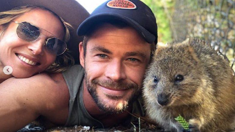 Chris Hemsworth Shares Selfie With 'Quokka' He Encountered in Australia