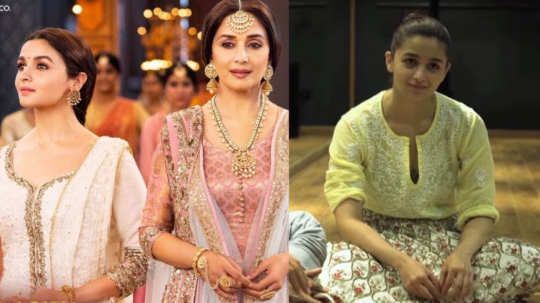 Ghar More Pardesiya Making: 5 Revelations by Alia Bhatt and Madhuri Dixit That Make the Kalank Song All the More Interesting – Watch Video