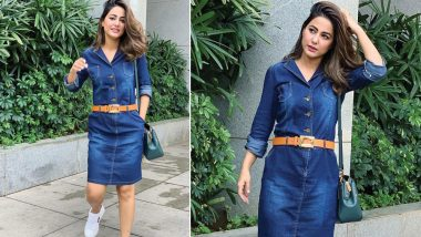 Hina Khan's Denim Dress Definitely Makes for a Perfect Summer Outfit – View Pics