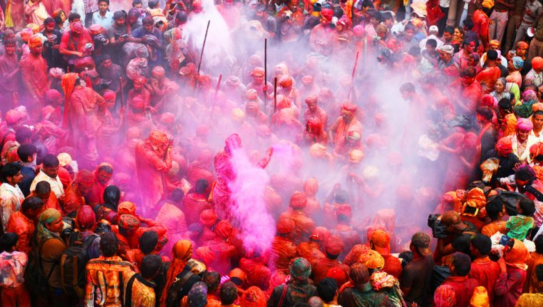 Brij Holi 2019 Dates and Calendar: Schedule of Holi Festival Celebrations in Religious Towns of Mathura and Vrindavan in UP