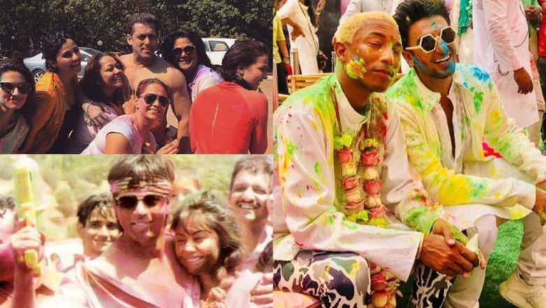Holi 2019: These 10 Pictures of Ranveer Singh, Pharell Wiliams, Shah Rukh Khan, Salman Khan Will Put You in the Festive Spirit