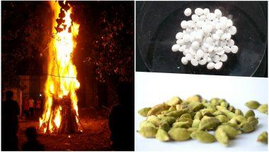 WhatsApp Forward Says Burning Camphor (Kapur) and Cardamom (Choti Elaichi) in Holika Dahan Fire during Holi Can Kill Swine Flu Virus; Here's the Truth