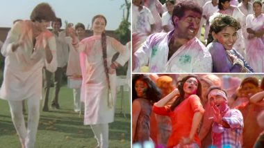 Happy Holi 2019 Songs Playlist: From Rang Barse to Balam Pichkari, Groove To These Old & New Bollywood Songs On The Festival Of Colours (Watch Videos)