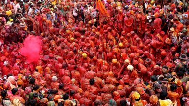 Holi 2019 Dates & How to Watch Barsana, Mathura & Vrindavan Celebration Live Online: Free Video Live Streaming of Mathura Brij Holi from Uttar Pradesh