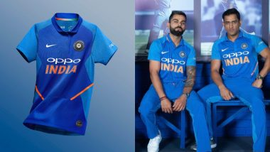Virat Kohli, MS Dhoni Unveil Indian Cricket Team's New Jersey for ICC Cricket World Cup 2019 and Australia ODI Series