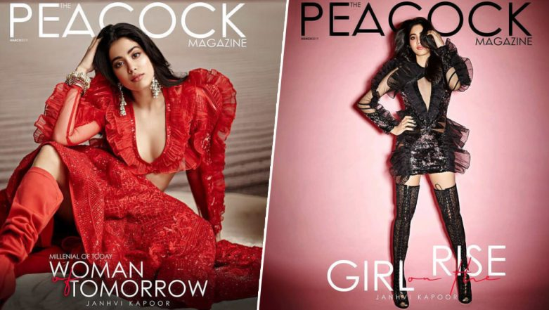 Janhvi Kapoor's New Magazine Covers In Red and Black Are Too Hot To Handle - View Pics!