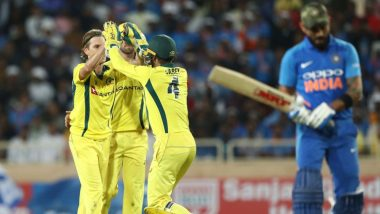 IND 237/10 in 50 Overs (Target 273) | India vs Australia Highlights 5th ODI 2019: AUS Win by 35 Runs, Clinch Series 3-2