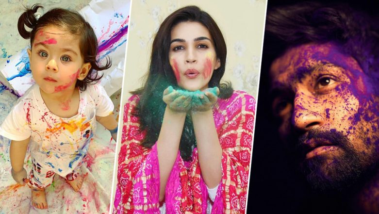 Holi 2019: Inaaya Naumi Kemmu, Kriti Sanon, Vicky Kaushal's Colourful Instagram Pictures Perfectly Define The Festive Spirit of the Day!