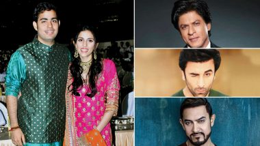 Akash Ambani-Shloka Mehta Wedding: Shah Rukh Khan, Ranbir Kapoor, Aamir Khan and Other Bollywood Actors Who Are Expected to Make it To the Guest List