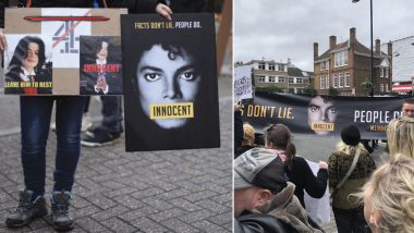 Leaving Neverland: Michael Jackson Fans Protest Outside Channel 4 Headquarters Prior To The Documentary Release